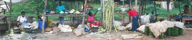 Marketplace in rural Uganda; photo by SR Holman